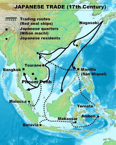 comercio japones ultramar s. XVII