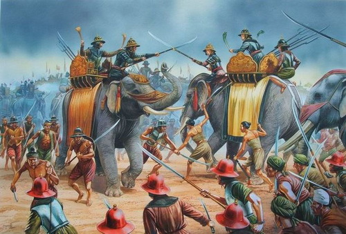 elefantes de guerra tailandia