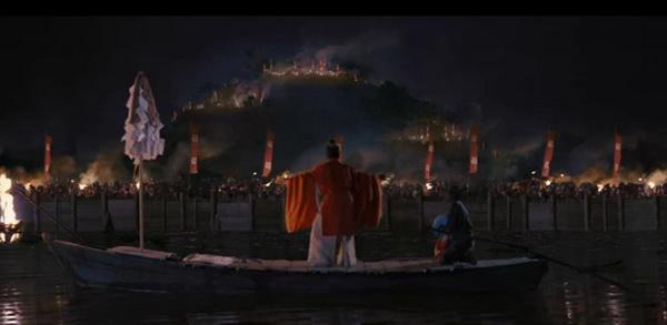 El castillo flotante deTakamatsu