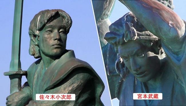 miyamoto musashi sasaki kojiro estatua 2