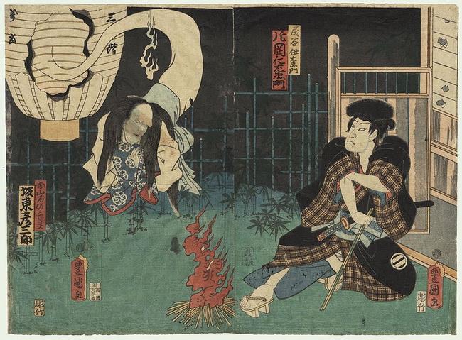 oiwa fantasma ukiyoe yotsuya kaidan toyokuni 2