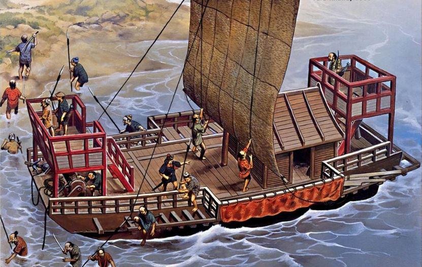 wako nave barco pirata japon
