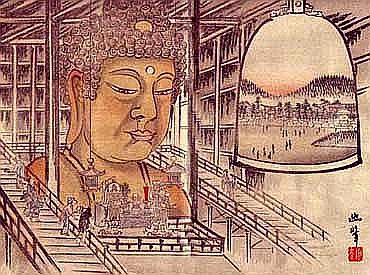 Un Buda gigante forjado con el hierro de miles dekatanas