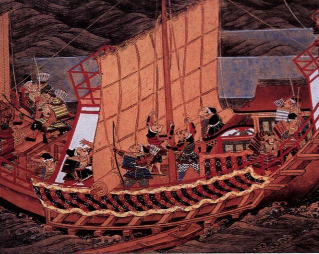 barco japones samurai