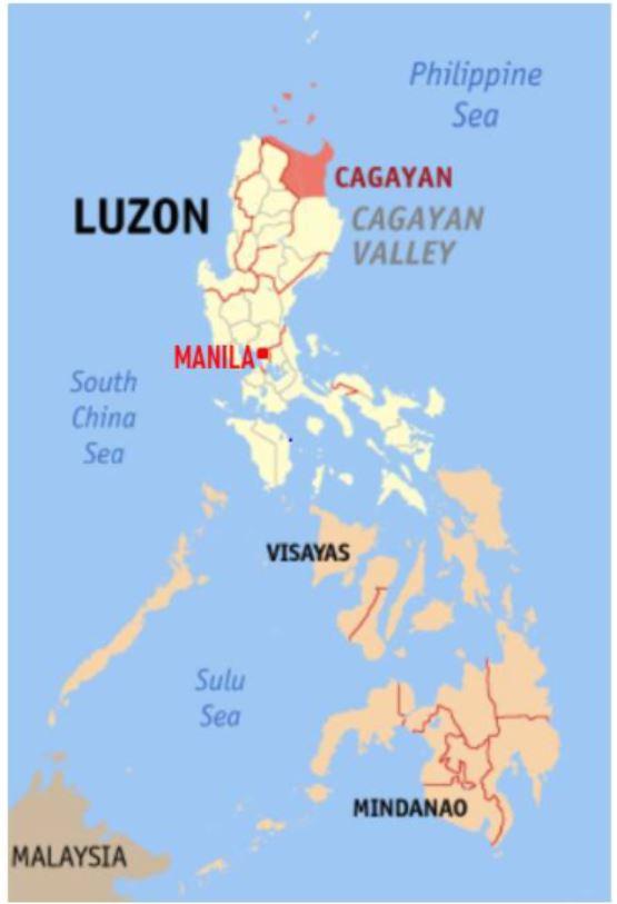 mapa filipinas cagayan