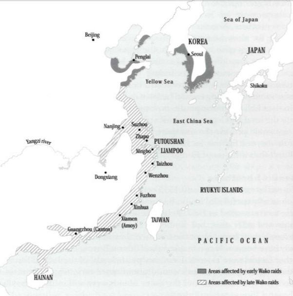 mapa wako piratas japoneses